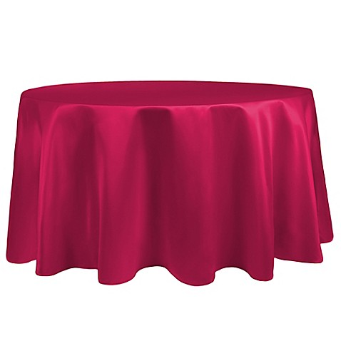 Buy Duchess 90 Inch Round Tablecloth In Cerise From Bed