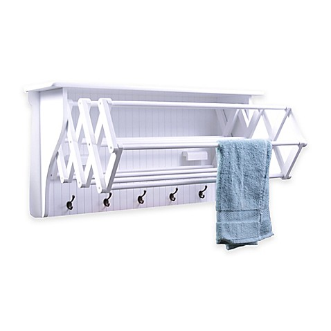 Accordion Drying Rack In White Bed Bath Amp Beyond
