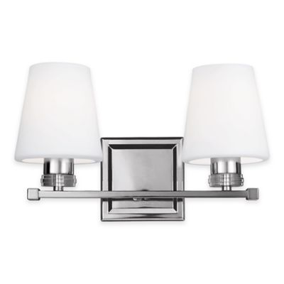 Buy Feiss Rouen 2-Light Bath Vanity Fixture in Polished Nickel from Bed Bath & Beyond