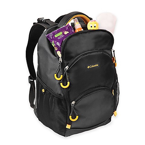 columbia pine oaks backpack diaper bag in black buybuy baby. Black Bedroom Furniture Sets. Home Design Ideas