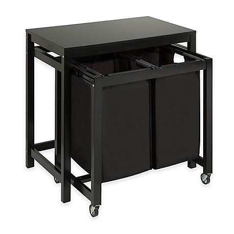 Honey Can Do 174 Double Laundry Sorter And Folding Table In