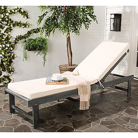 Safavieh inglewood acacia wood chaise lounge chair bed for Acacia wood chaise lounge