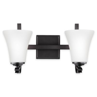 Vanity Lights Bed Bath And Beyond : Buy Feiss Summerdale 2-Light Bath Vanity in Oil-Rubbed Bronze from Bed Bath & Beyond