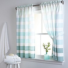 Short window long curtains - Highline Stripe 38 Inch X 45 Inch Cotton Window Curtain Panel Pair