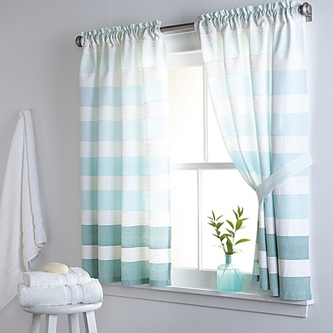 Buy Dkny Highline Stripe 38 Inch X 45 Inch Cotton Window Curtain Panel Pair From Bed Bath Beyond
