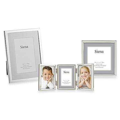 Buy Siena Silver Plated Narrow Plain 5 Inch X 7 Inch