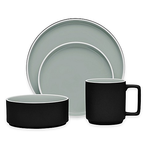 Noritake® ColorTrio Stax Dinnerware Collection in Graphite at Bed Bath & Beyond in Cypress, TX   Tuggl
