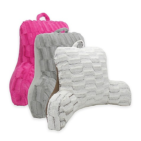arlee home fashions nevada cut plush backrest pillow bed bath beyond. Black Bedroom Furniture Sets. Home Design Ideas