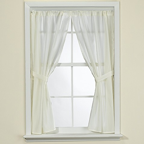 Fabric Bathroom Window Curtain