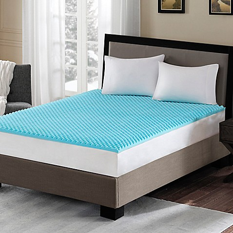 Sleep Philosophy Flexapedic 1.5-Inch Gel Memory Foam Mattress Topper in Blue | Tuggl
