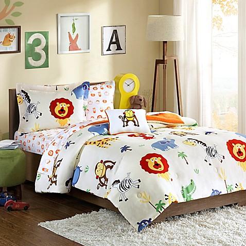Mi Zone Kids Safari Sam Comforter Set In Orange Bed Bath