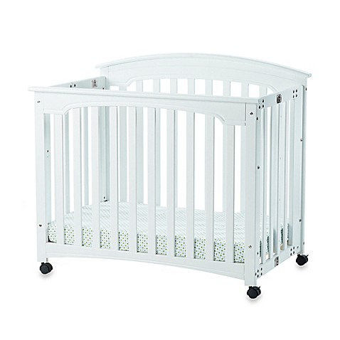 child craft wadsworth folding mini crib in matte white. Black Bedroom Furniture Sets. Home Design Ideas
