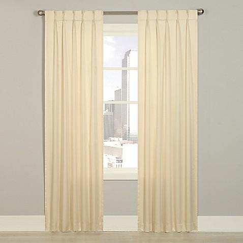 Buy Splendor 63 Inch Grommet Glide Pinch Pleat Lined Window Curtain Panel In Ivory From Bed Bath