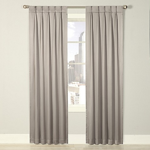 Buy Splendor 84 Inch Grommet Glide Pinch Pleat Lined Window Curtain Panel In Grey From Bed Bath