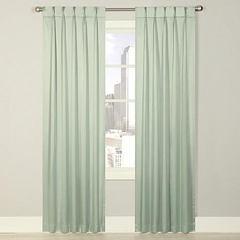 Buy Splendor 84 Inch Grommet Glide Pinch Pleat Lined Window Curtain Panel In Spa From Bed Bath