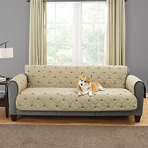 Sure Fit Deluxe Embroidered Pet Furniture Cover In Tan Bed Bath Beyond