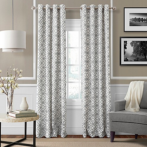 Crackle Grommet Top Window Curtain Panel Bed Bath Beyond