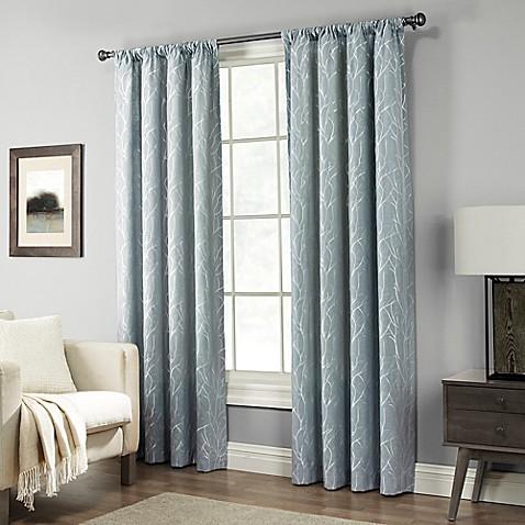pinehurst rod pocket window curtain panel bed bath beyond. Black Bedroom Furniture Sets. Home Design Ideas