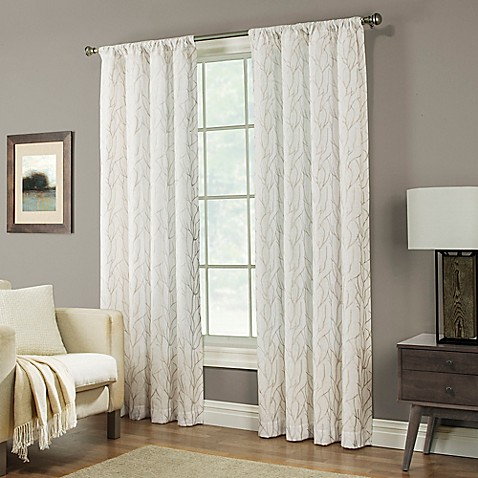 Buy Pinehurst 84 Inch Rod Pocket Window Curtain Panel In Tan From Bed Bath Beyond
