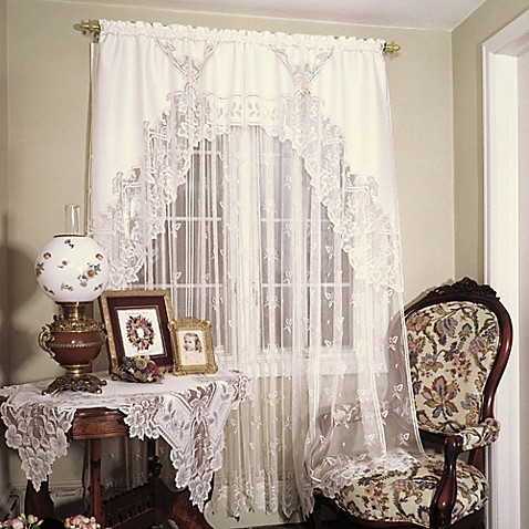 Heritage Lace Heirloom 45 Inch Window Curtain Tier Bed