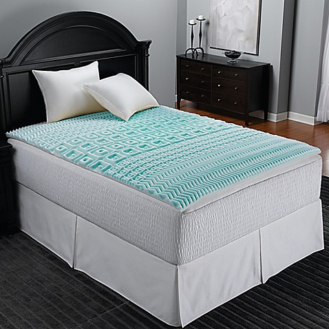Sleep Zone 5 Zone Foam Egg Crate Mattress Topper In Blue