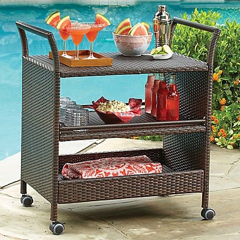 Stratford Wicker Serving Cart Bed Bath Amp Beyond