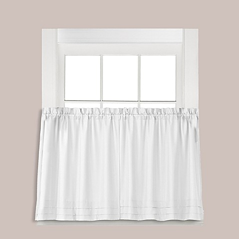 Buy Holden 36 Inch Window Curtain Tier Pair In White From Bed Bath Beyond
