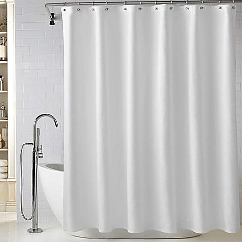 Wamsutta Diamond Matelass Shower Curtain In White Bed Bath Beyond