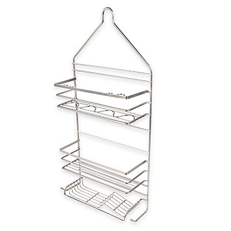 Two Tier Rust Proof Shower Caddy In Satin Nickel Bed
