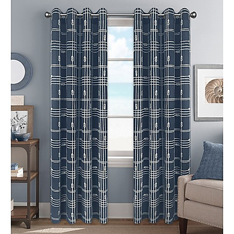 Knot Plaid Window Curtain Panel And Valance Bed Bath Beyond