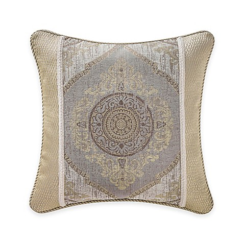 Waterford Linens Marcello Ogee Throw Pillow in Taupe/Gold - Bed Bath & Beyond