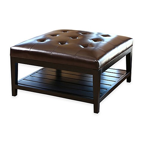 Abbyson living villagio table ottoman in dark brown bed for Regulation 85 table a