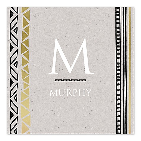 Modern Black And Gold Letter Canvas Wall Art at Bed Bath & Beyond in Cypress, TX | Tuggl