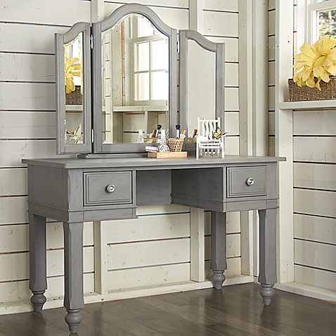 Buy Ne Kids Lake House Writing Desk And Vanity Mirror Set In White From Bed Bath Beyond