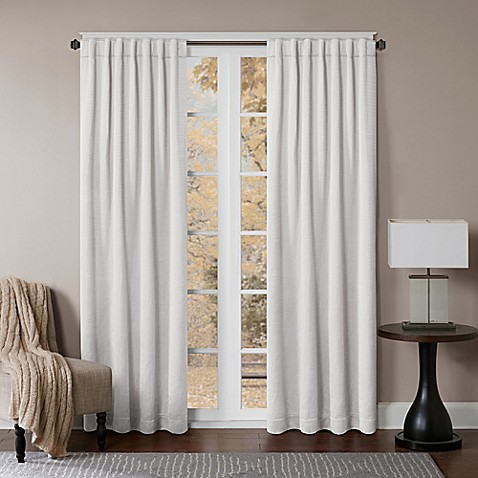Buy Princeton 108 Inch Rod Pocket Back Tab Window Curtain Panel In White From Bed Bath Beyond