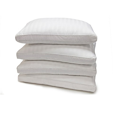 Buy Damask Stripe Standard Down Alternative Pillow (Set of 4) from Bed Bath & Beyond