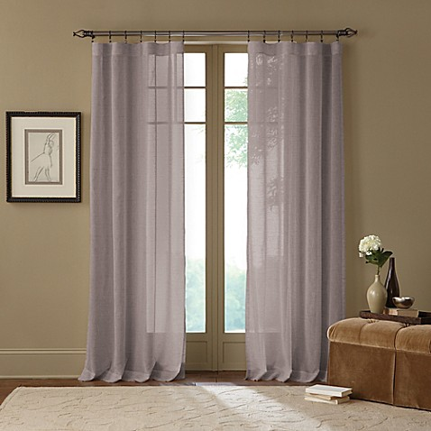 Cambria terra x inch rod pocket sheer window curtain for Voilage fenetre salon