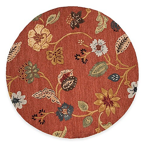 Buy Jaipur Blue Collection Floral 8 Foot Round Area Rug In