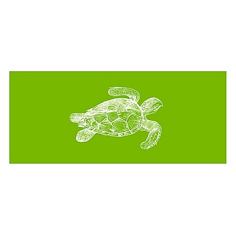 The Softer Side By Weather Guard Turtle Kitchen Mat In