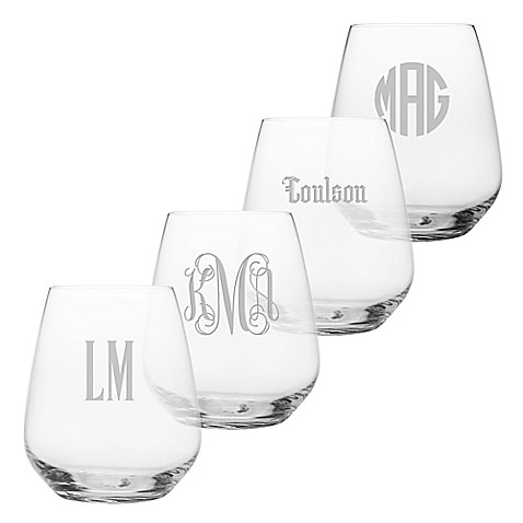 Susquehanna Glass Stemless Wine Glasses (Set of 4) at Bed Bath & Beyond in Cypress, TX | Tuggl