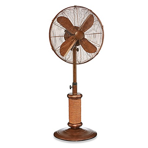 Deco Breeze Inch Oscillating Outdoor Fan Antique White Bed Bath Amp Beyond