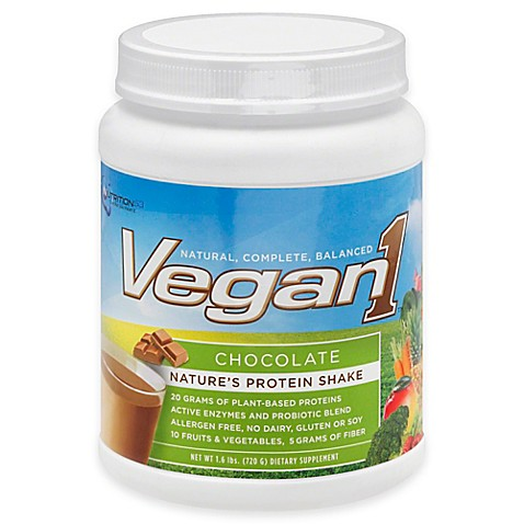 Nutrition53™ 25.4 oz. Vegan1 Shake in Chocolate at Bed Bath & Beyond in Cypress, TX | Tuggl