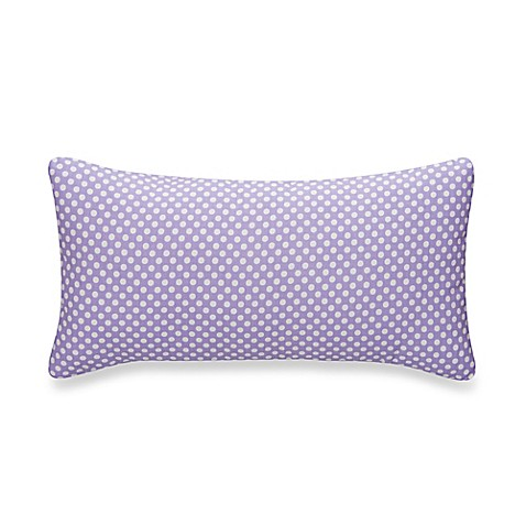 Glenna Jean Lilly & Flo Polka Dot Rectangular Throw Pillow in Purple - Bed Bath & Beyond