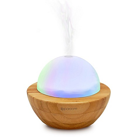 SpaRoom® Bamboo Ultrasonic AromaGlobe Aromatherapy Diffuser at Bed Bath & Beyond in Cypress, TX | Tuggl