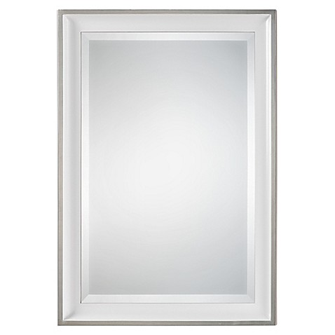 Buy Uttermost Lahvahn Wall Mirror in Gloss White from Bed
