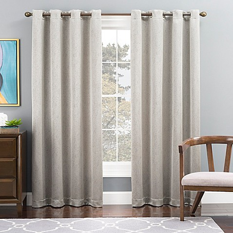 Tribeca Grommet Top Lined Window Curtain Panel Bed Bath Beyond