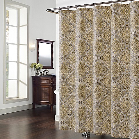 Hopewell Shower Curtain In Grey Yellow Bed Bath Amp Beyond