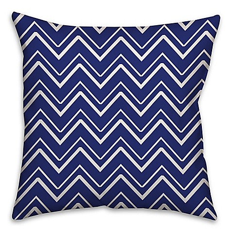 Chevron stripe throw pillow in royal blue bed bath beyond for Royal blue couch pillows