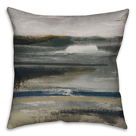 Neutral Abstract Throw Pillow In Grey Brown Bed Bath