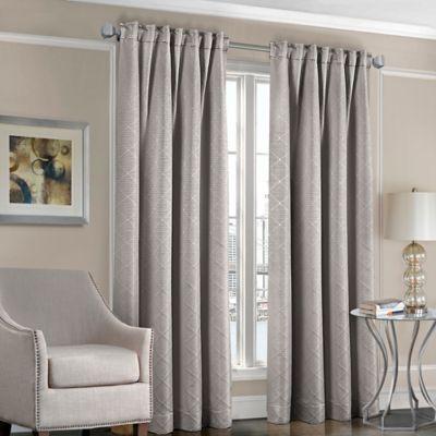 Designers 39 Select Satin Diamond Rod Pocket Back Tab Window Curtain Panel Bed Bath Beyond